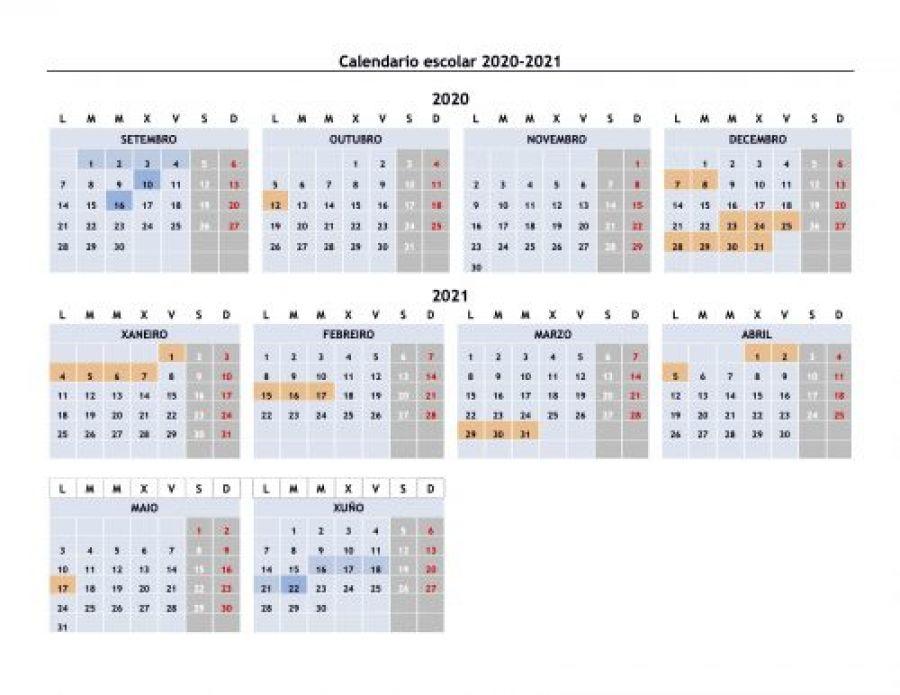 Calendario Escolar Galicia 2020 Y 2019.Calendario Escolar 2019 2020